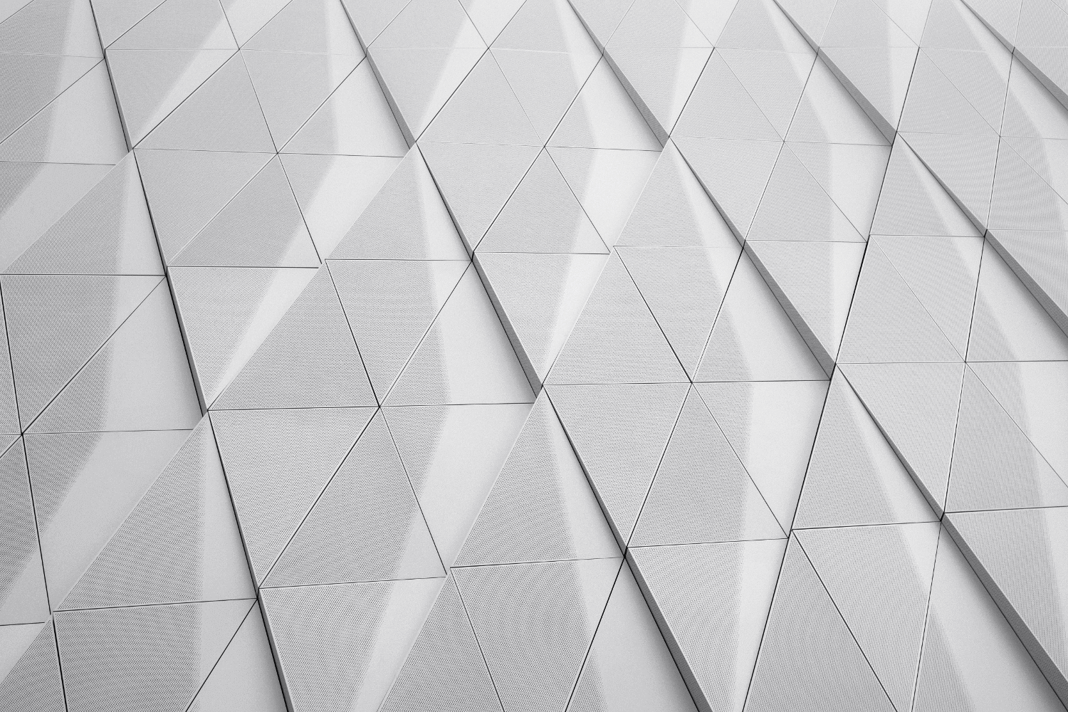 Geometric triangles interwoven for a pleasant textured look